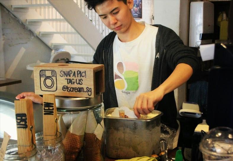 IScream ice-cream parlour Bedok hangout places Singapore