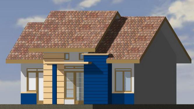 Contoh Rumah  Minimalis Type 48  denah desain  rumah  minimalis