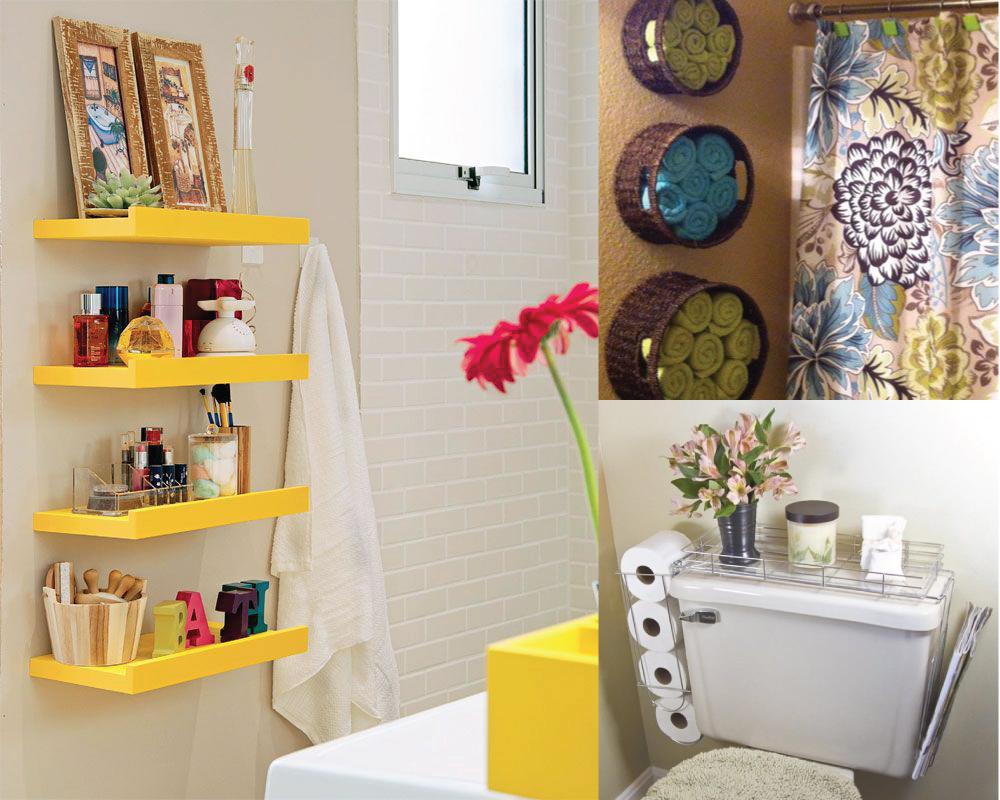 Construindo Minha Casa Clean Como Reformar um Banheiro Antigo para Valorizar -> Banheiro Pequeno E Organizado