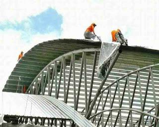 atap spandek melengkung