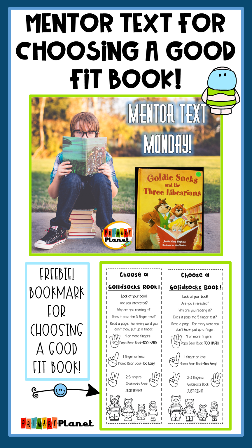 Mentor Text for Choosing a Good Fit book with a Freebie!