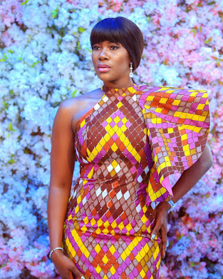 Actress Stephanie Linus stunning in Ankara