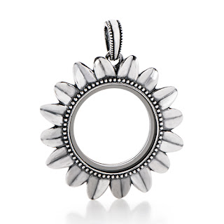 Origami Owl Sunflower Living Locket available at StoriedCharms.com