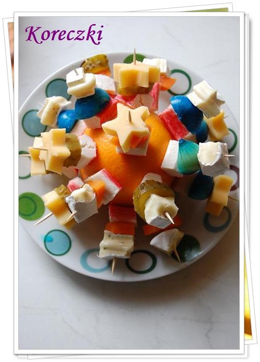 w mojej pachnącej kuchni...: Koreczki i pomysł na talerz z ...
