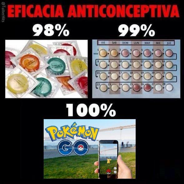 Pokemon Go, nuevo método anticonceptivo.