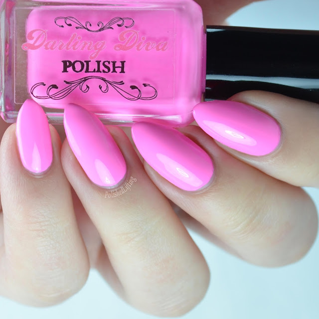 bright pink crelly nail polish