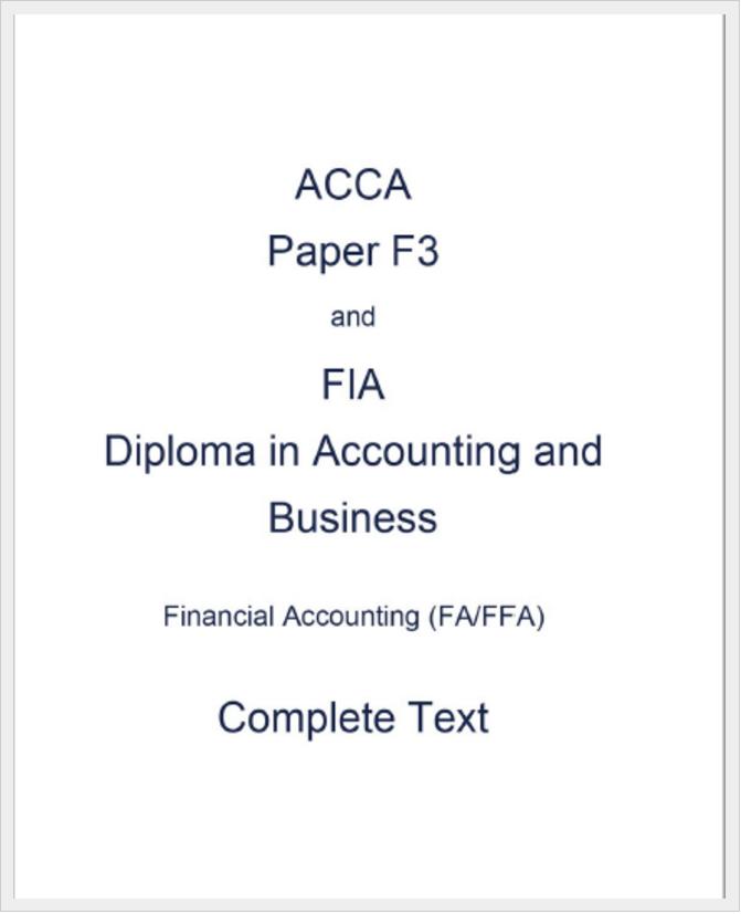Acca F6 Study Text
