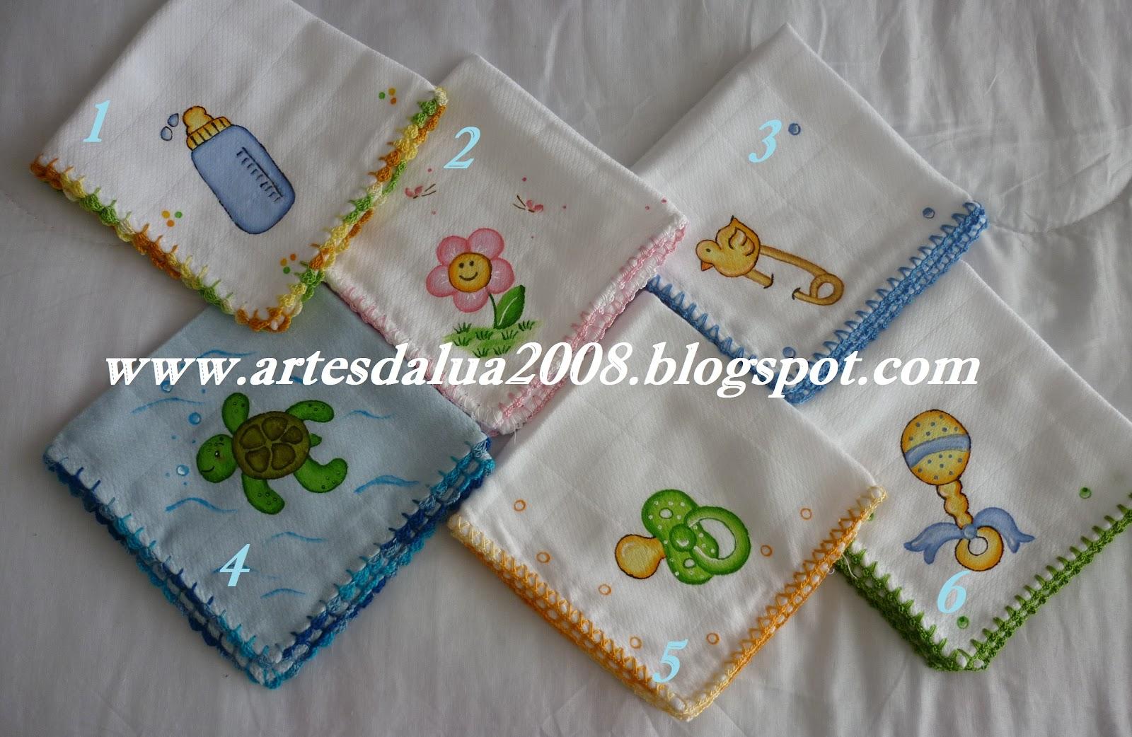 Fabuloso Artes da lua- enxoval para bébé pintado à mão: Fralda de boca  YZ23