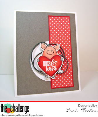 Hogs and Kisses card-designed by Lori Tecler/Inking Aloud-stamps from Avery Elle