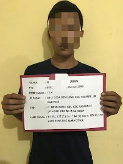 Polsek Rambang Dangku Berhasil Ringkus Dua Warga PALI