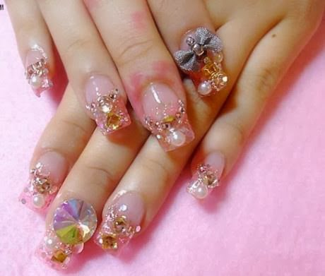 stylish but simple and easy nail art design collection