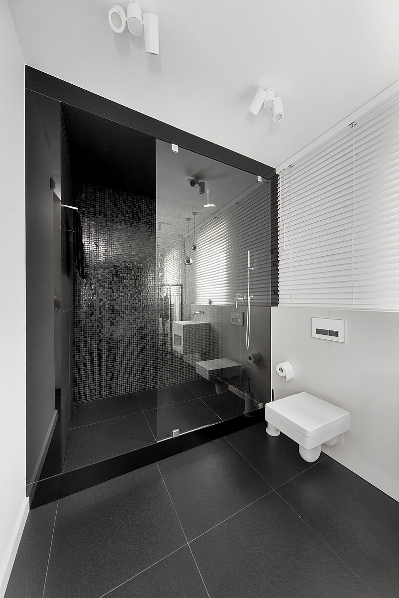 Black shower room