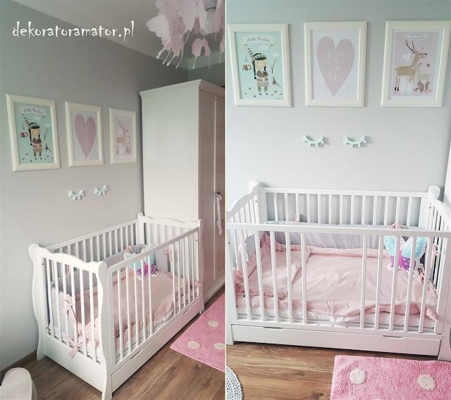 pokój dziecięcy, pokój dla dziewczynki, pokój dziecka, kidsroom, girlsroom, pastelowy pokój