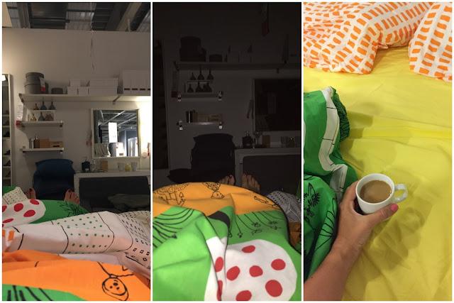 IKEA Family Midsommar Uebernachten im IKEA Einrichtungshaus Koeln schlafen