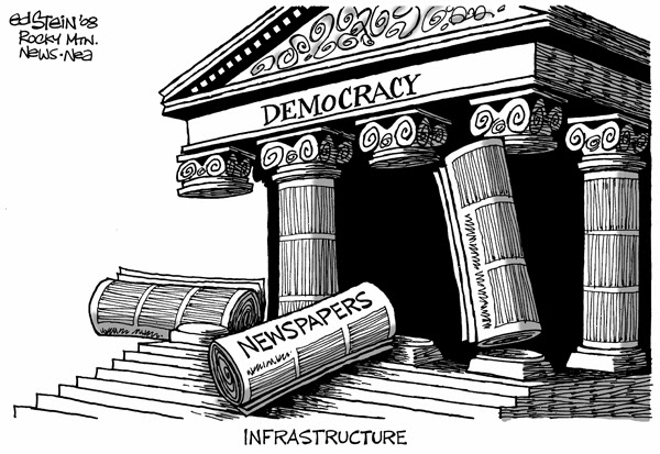 America's democracy has been shaken to its foundation by allowing itself to be controlled by Wall Street