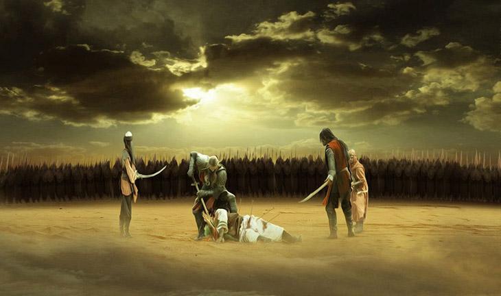 Kerbela olayı, AY, din, islamiyet, Emevi halifesi Yezid, Halifelik savaşları, Halifelik çatışmaları, Hz Hüseyin, Hüseyin'in ölümü, Muhammedîn torunları, Kufe, Yezit, Vakkas, Halife Yezit, Allah nerede,