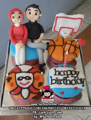 Cupcake Bola Basket
