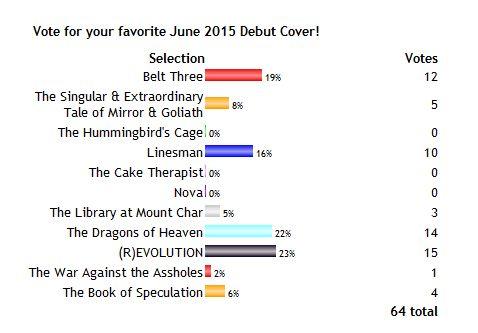 2015 Debut Author Challenge Cover Wars - June 2015 Winner
