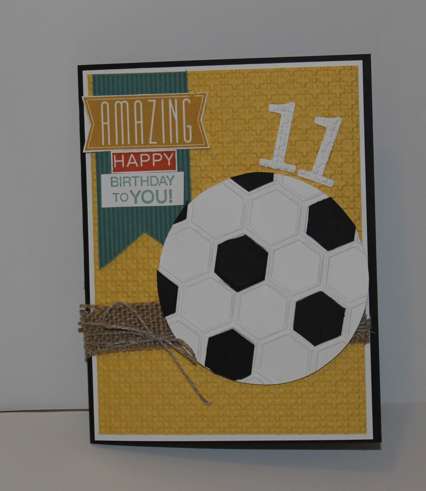 Share Yet Another Birthday Card Today This One Could Be For A Boy Or Anyone Who Loves And Plays Soccer Actually Describes My 11 Year Old Son