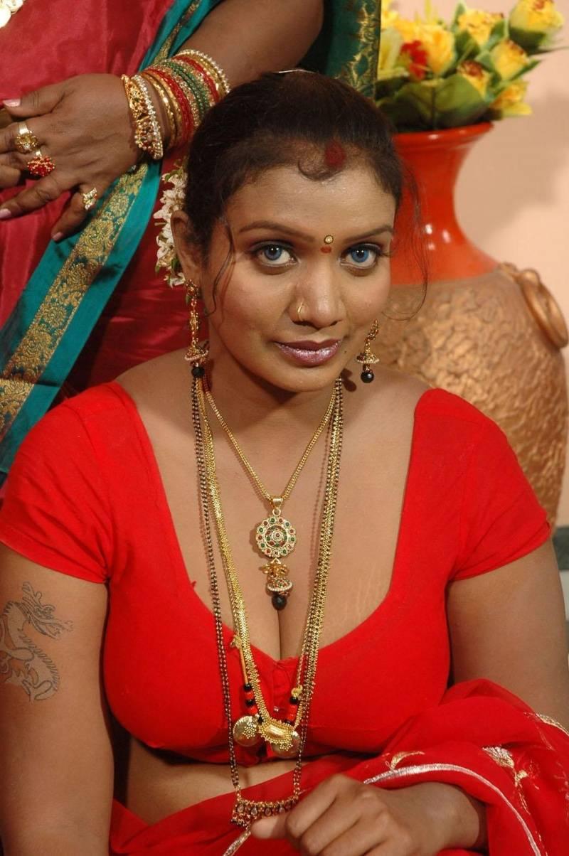 Slicypics Indian Actress Tamanna Bhatia Photos: Mallika Red Saree Spicy Pics