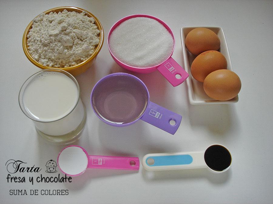 Tarta-fresa-chocolate-Ingredientes-bizcocho