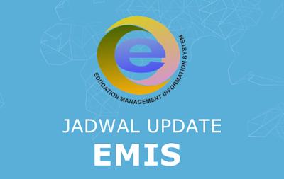 Jadwal Updating Emis Genap Tahun Pelajaran 2017-2018