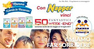 LogoConcorso ''Mamma ti porto in vacanza'': con Napper vinci 50 weekend