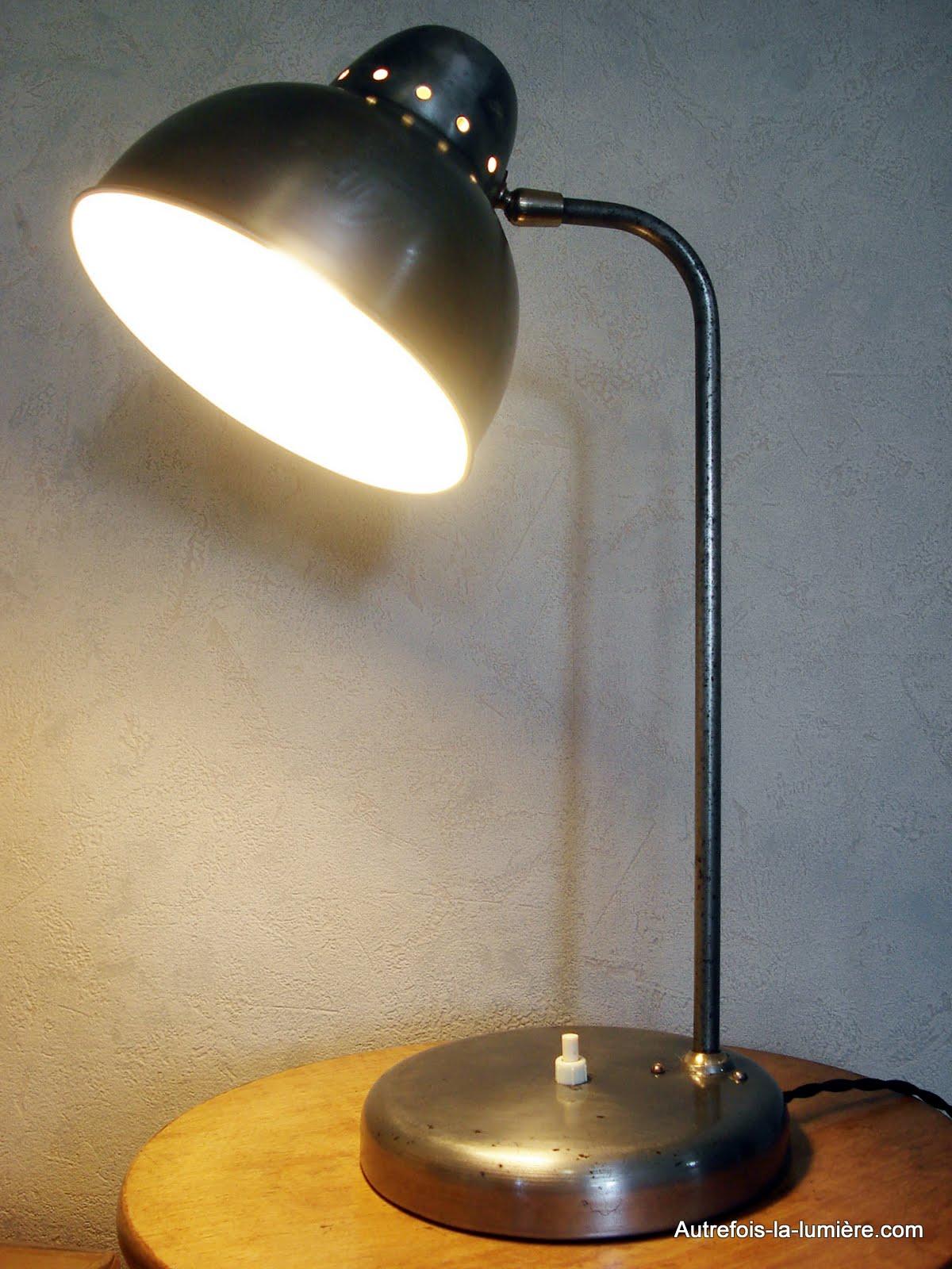 lampe de bureau annee 1930. Black Bedroom Furniture Sets. Home Design Ideas