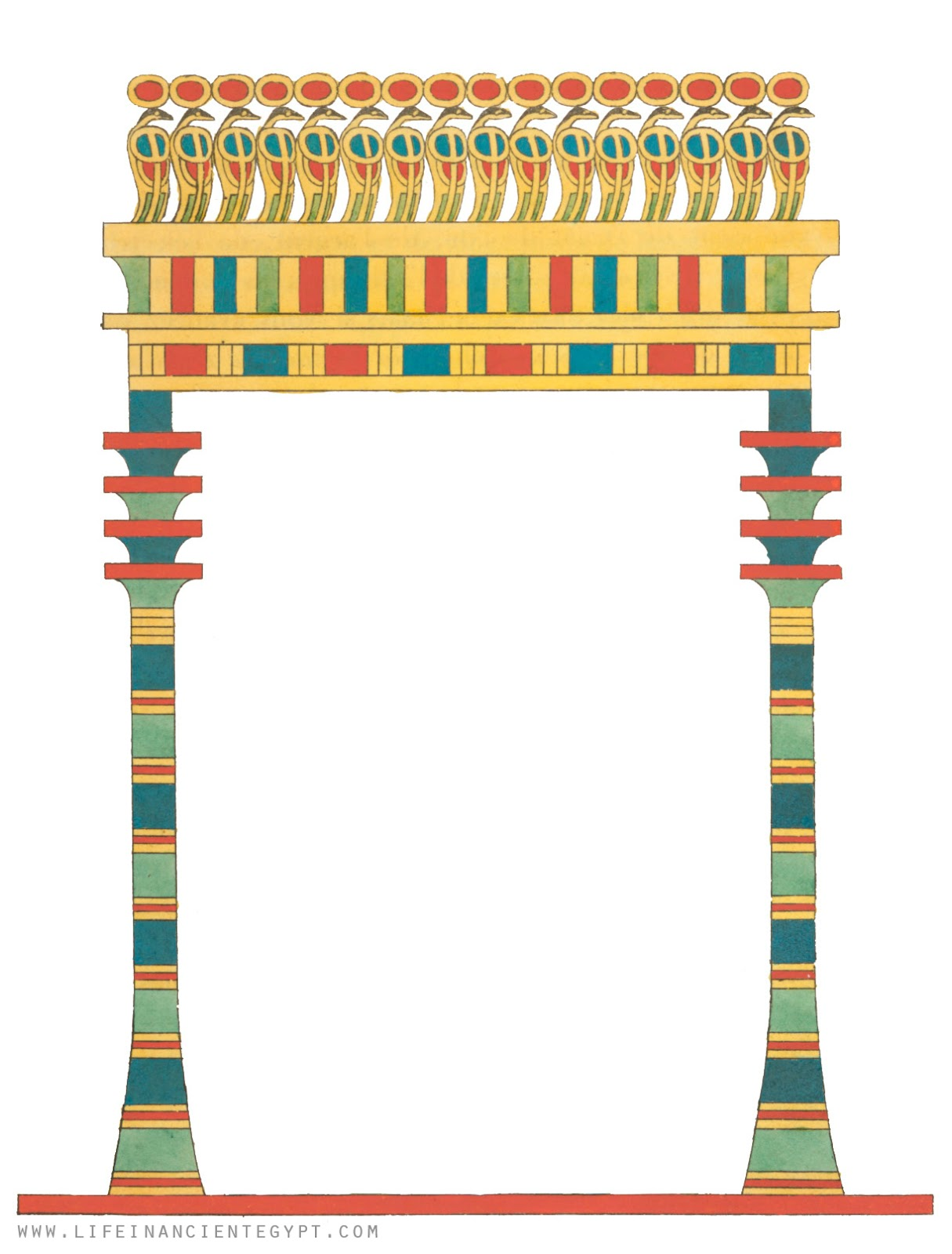 Free Ancient Egyptian Clipart Page Border And Printable