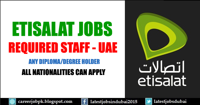 Etisalat careers and jobs in Dubai UAE