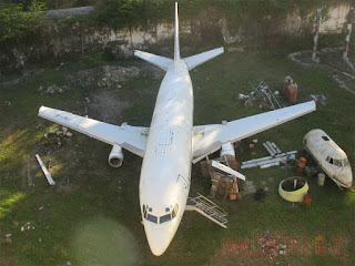Pesawat Kutuh Dekat Pantai Pandawa