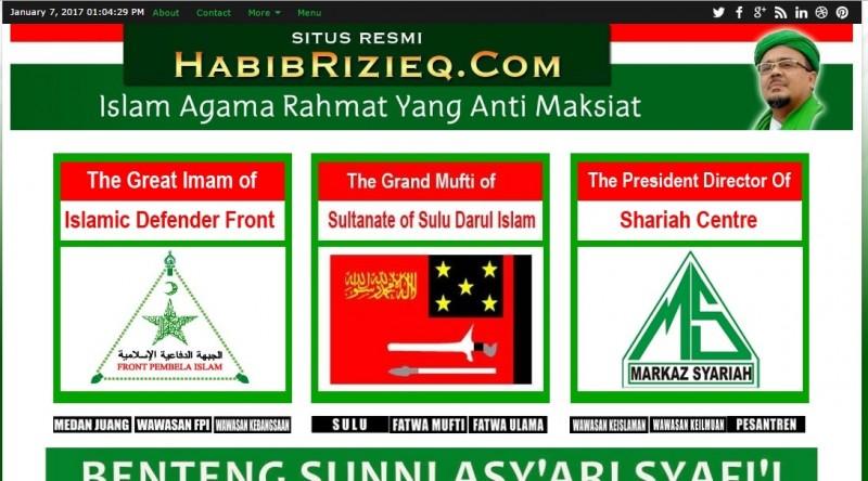 Tampilan situs HabibRizieq com