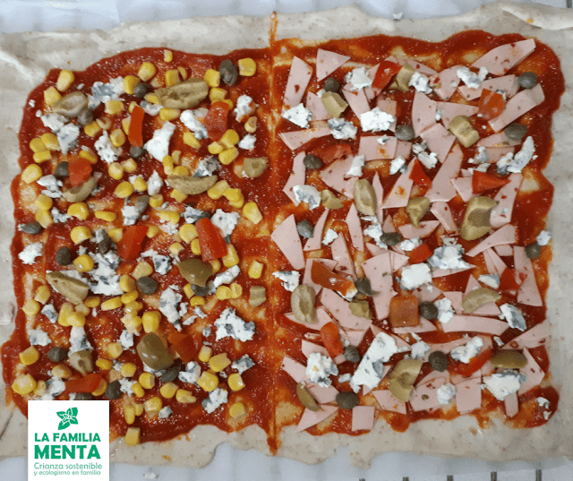 Recetas vegetarianas para peques: pizza vegetariana