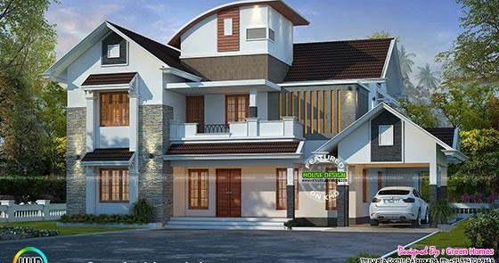 grand-mixed-roof-home-thumb Curved Roof House Design Kerala Home on modern garage with shed roof, house plans with gable roof, slate gray metal roof, ranch style house with hip roof, house with balcony roof, house plans with sloping roof, house with pool on roof, garage exterior design with metal roof, house with green metal roof, build a cupola roof, home roof, modern house roof,