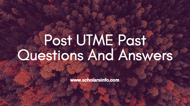 FUGUS Post UTME Past Exams Questions And Answers | Download Free Federal University, Gusau Zamfara Aptitude Test Past Questions and Answers - Cut off Mark & Post UME Screening Date