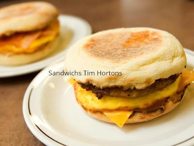 Sandwichs Tim Hortons