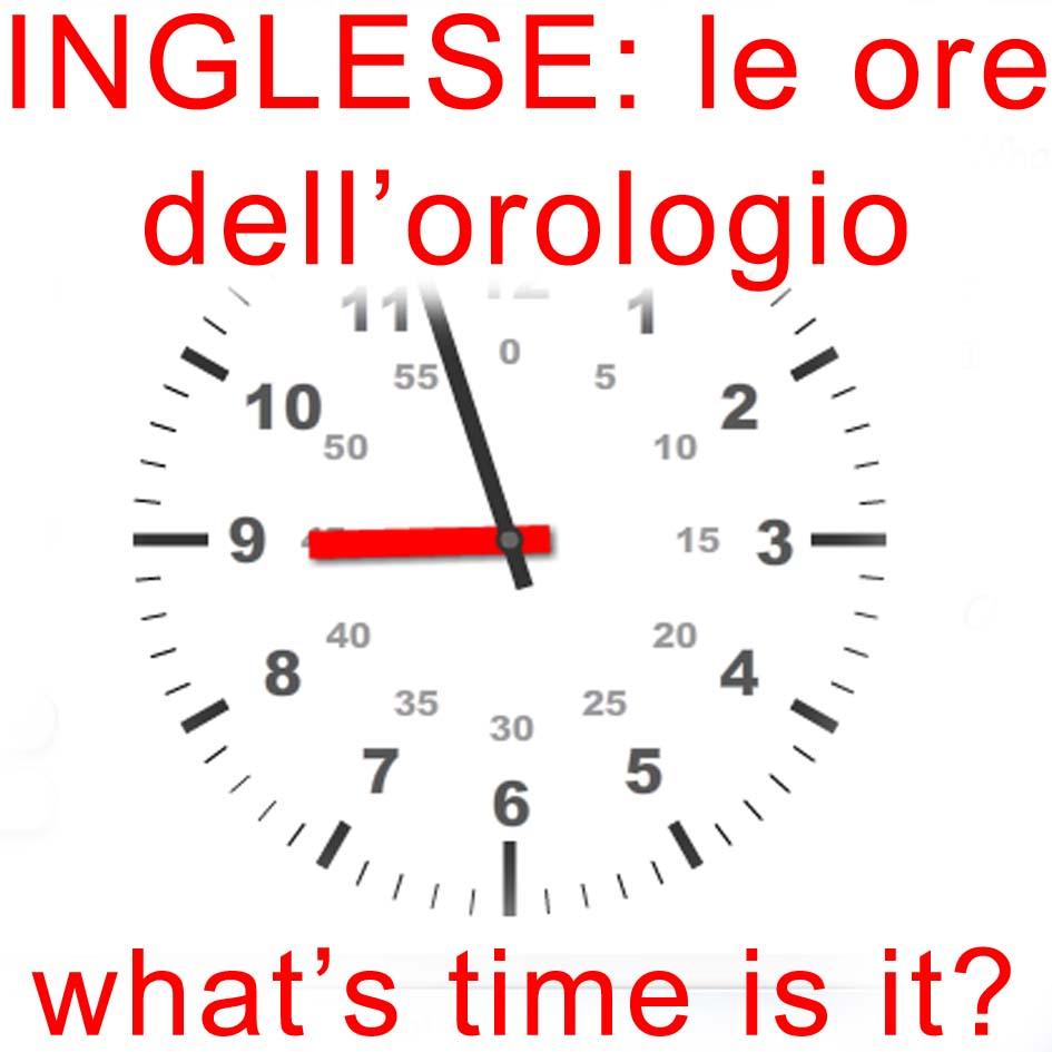 c15196a94aeb9c Orologio In Inglese Spiegazione Per Bambini