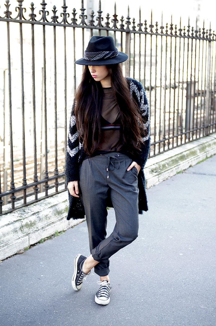 Elizabeth l Sheer black top outfit l Missguided Zara l blog mode l THEDEETSONE l http://thedeetsone.blogspot.fr