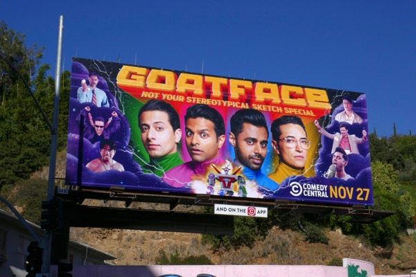 Goatface sketch special billboard