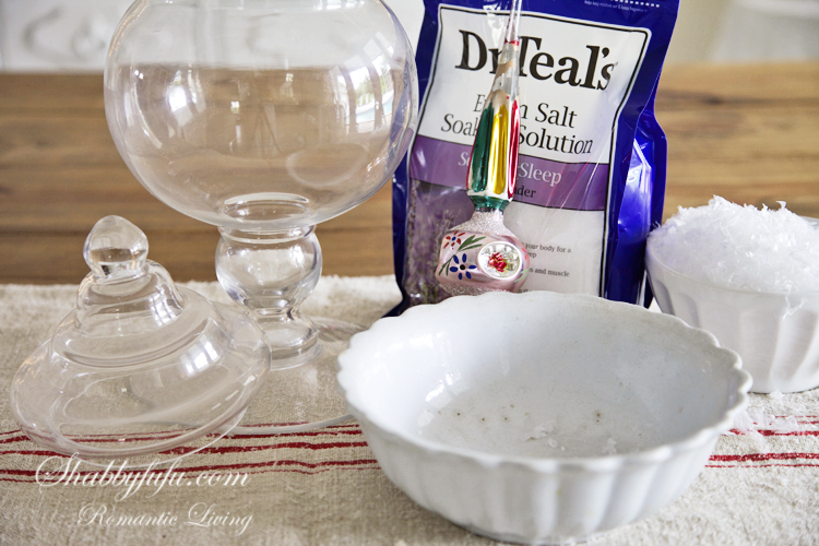 epsom salts to make a snow globe