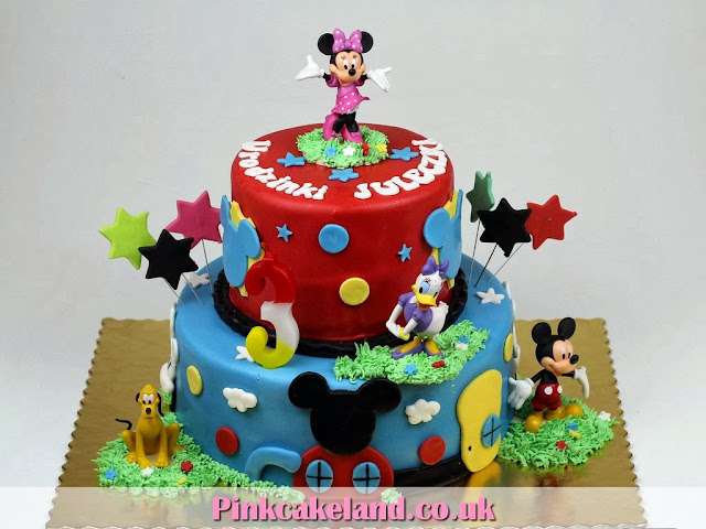 3rd Birthday Cake for Kids in London - Mickey Mouse Clubhouse