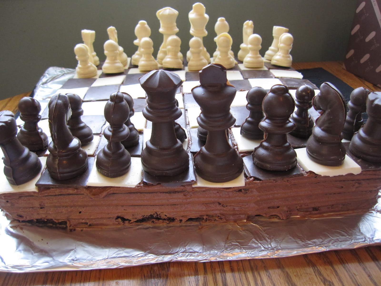 Chess Board Cake A Taste Of Madness
