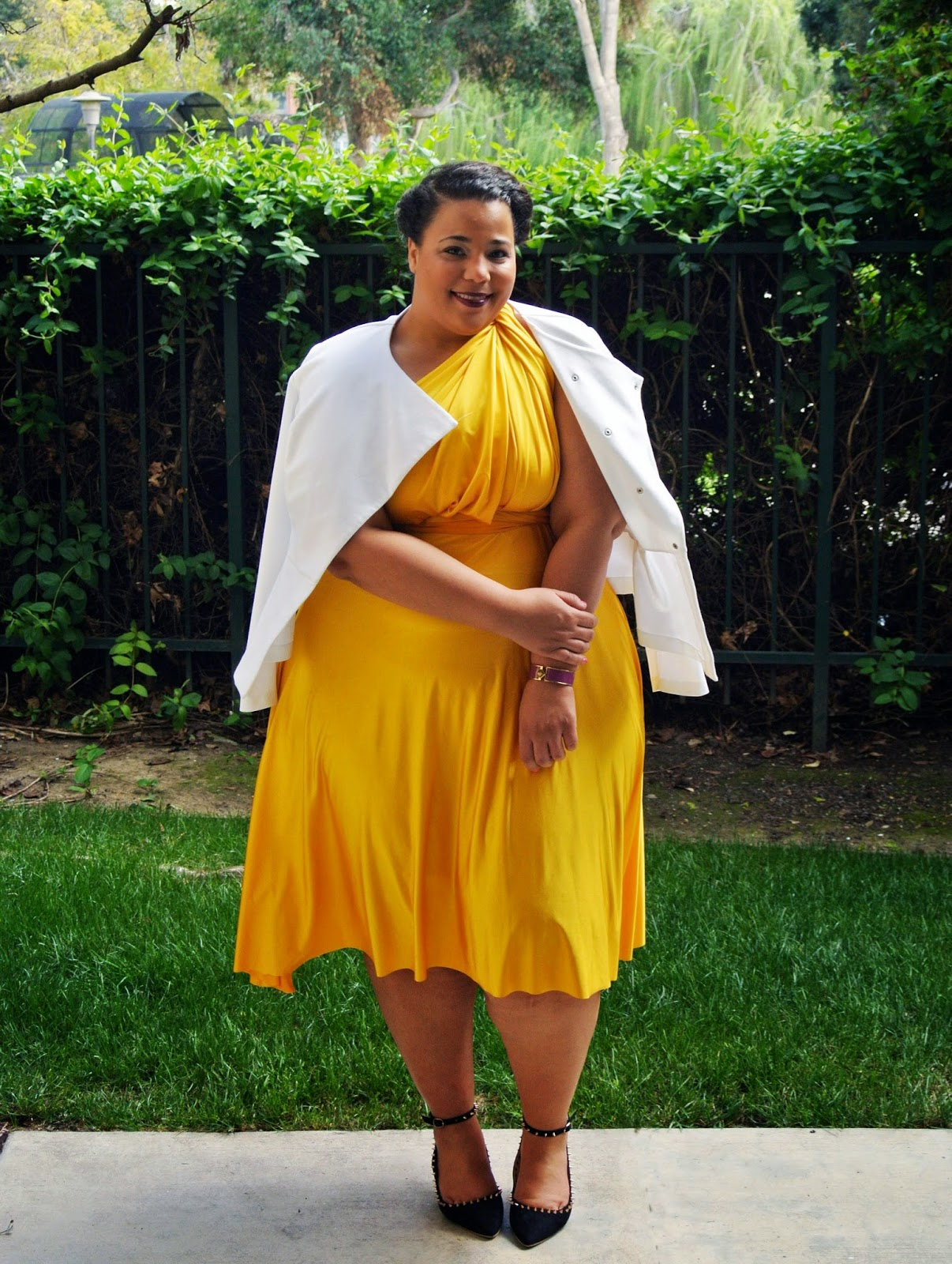 plus size fashion, swapdom, convertible dress