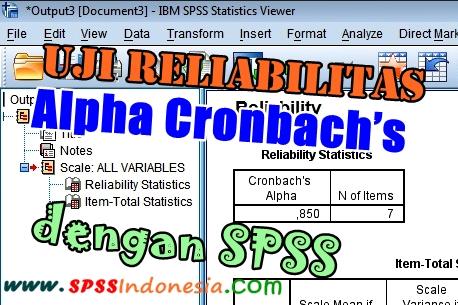 Cara Melakukan Uji Reliabilitas Alpha Cronbach's dengan SPSS
