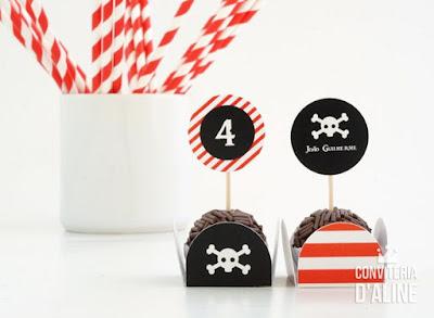 piratas festa forminha topper personalizado