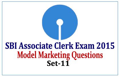 Model Marketing Questions for SBI Associate Clerk Exam