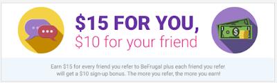 Referral Bonus from BeFrugal