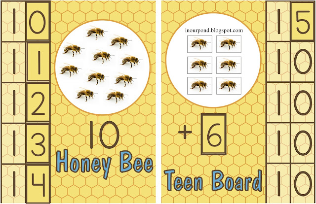 FREE Bee-Themed Montessori Teen Board from In Our Pond