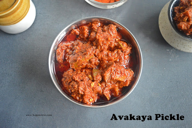 Avakaya Pickle | Andhra Raw Mango Pickle | Avakai Orugai | How to make Avakaya Pickle