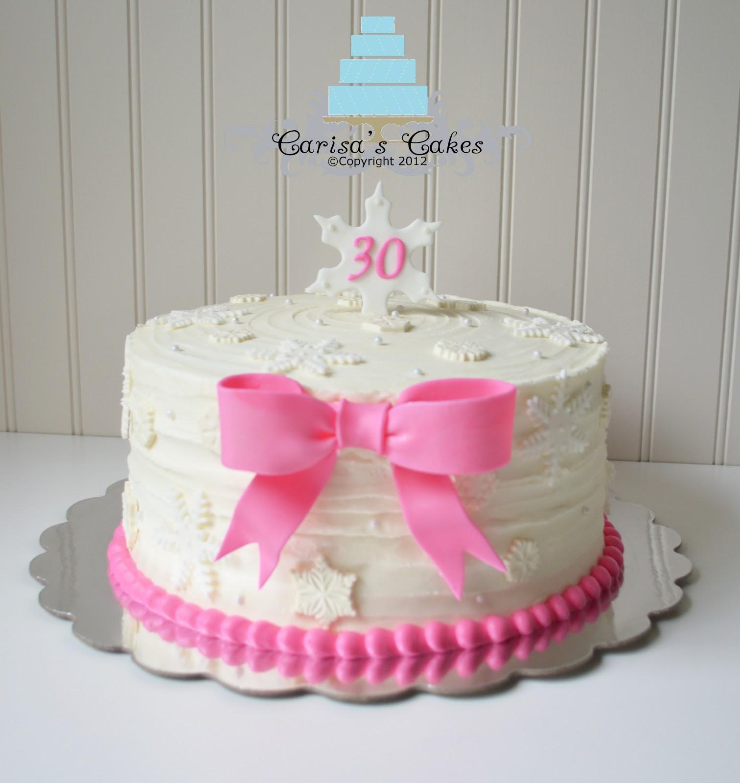 Inch Winter Birthday Cake